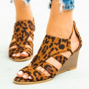 *** Coming Soon*** Leopard Print Wedge Sandals